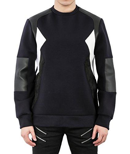 wiberlux-neil-barrett-mens-neoprene-quilted-paneled-sweatshirt-s-navy