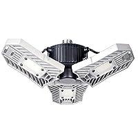 Deals on LED Garage Lights, 60W 6000LM Trilights Garage Ceiling Light