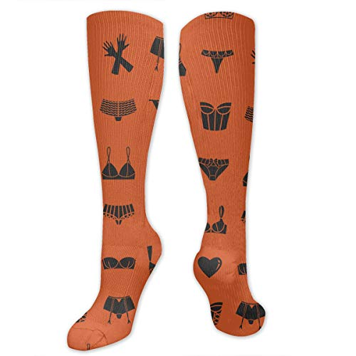 JrexsG Different, Bras, Underwear, Gloves, Orange Fashion Knee High Graduated, Compression Socks for Women and MenRunning & Fitness,Travel, Flight, Nurses & Recovery and Performance.