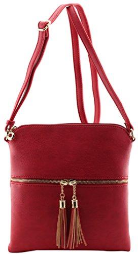 Joey nappe regolabile a rossa borsa amp; dimensioni tracolla medie di con tracolla e Amy qaz51w7