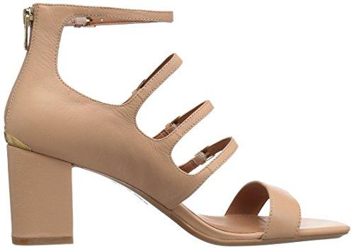 Calvin Klein Donna Caz Sandalo Con Tacco, Beige, 9,5 Medio Noi