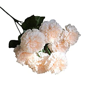 YJYDADA Artificial Silk Fake Flowers Daisy Lotus Wedding Bouquet Party Home Decor (F) 67