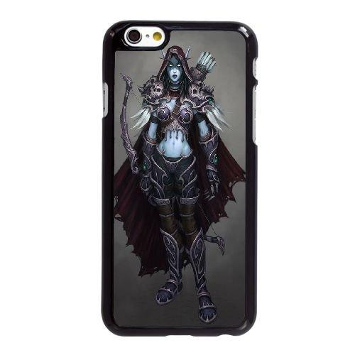 R6G67 Sylvanas World of Warcraft S2P4OC coque iPhone 6 4.7 pouces cas de couverture de téléphone portable coque noire WY9XBL3MJ