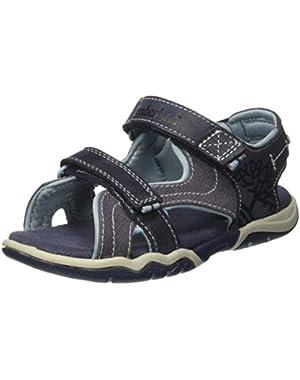 Park Hopper 2-Strap Navy Nubuck Youth Flat Sandals