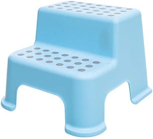 Escalera de tijera de plástico para niños, taburete para niños de 2 heces, taburete para niños de dos pasos antideslizante, escabel para lavabo, taburete de pedales para niños pequeños Baño y cocina:
