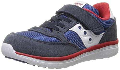 Saucony Baby Jazz Lite Sneaker (Toddler/Little Kid/Big Kid), Navy/Cobalt/Red, 5.5 M US Toddler
