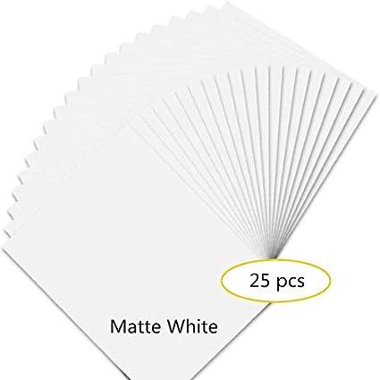 Papel adhesivo de vinilo para impresora de inyección de tinta, 25 ...