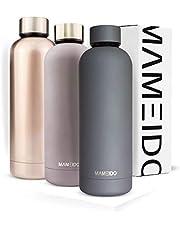 MAMEIDO Trinkflasche Edelstahl - 500ml 750ml Thermosflasche - auslaufsicher, BPA frei - isolierte Wasserflasche, doppelwandige Isolierflasche, schlanke leichte Thermoskanne