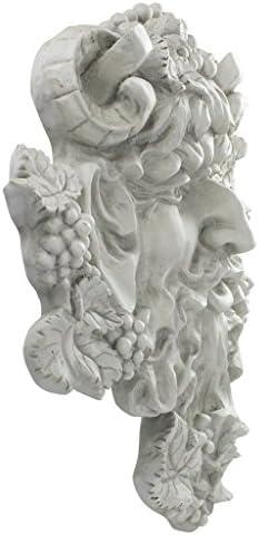 "18/"" Bacchus Wine Greek Mythical Wall Plaque Green Man Home Garden Decor"