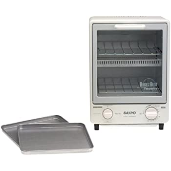 Amazon Com Sanyo Sk 7w Space Saving Toaster Oven White