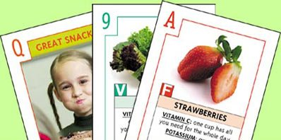 Food Fun Nutrition Cards - Lunch Mania! - Fun Food Cards Nutrition