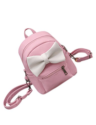 Ears Bags Shoulder Bowknot PU Span Bingirl Cute Bag Women Leather Pink Ears Backpack With ZBvw8xOwq