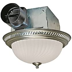 Air King DRLC702 Round Bath Fan with Light, Nickel