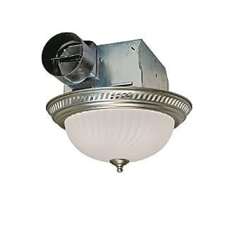 Air King Drlc702 Round Bath Fan With Light Nickel Ceiling Fan Light Kits