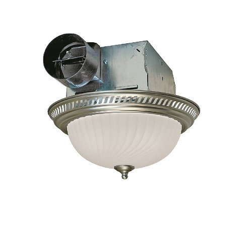 Air Fans Exhaust (Air King DRLC702 Round Bath Fan with Light, Nickel)