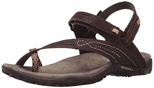 Merrell Women's Terran Convertible II Sandal, Dark Earth, 7 M US (Sole Rubber Sandals Merrell)