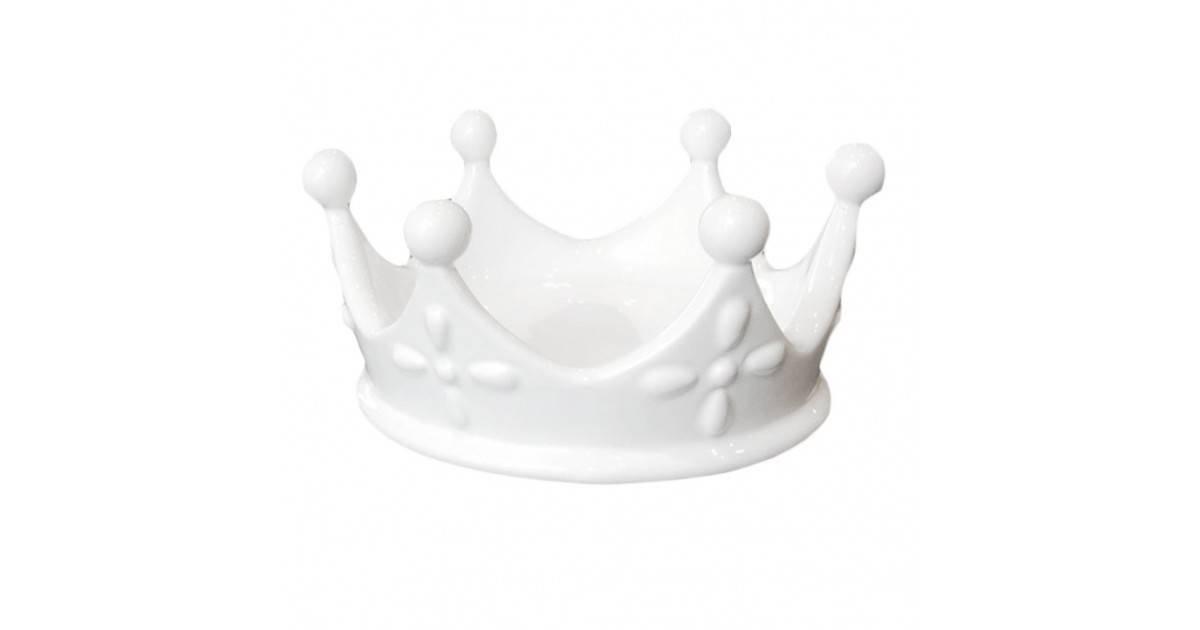 BeKreative Corona Svuotatasche Porta Gioie Regina Queen Porcella Bianca