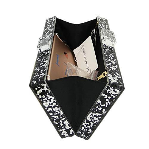 sera borsa Cocktail a notte Collana catena donna occhi per con Elegante in Cvbndfe motivo croce punto acrilico quadrato 50TRfapaWq