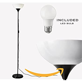 Ikea Not Floor Lamp Led Light Bulb Included Black White