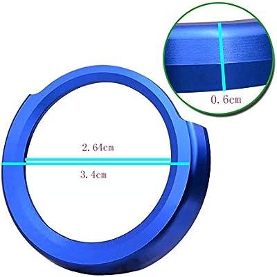 X5 blu X1 5 X4 2 7 6 adatto per Serie 1 Emblem Trading 3 X3 4 X6 GT Anello Start Stop con bottone automatico