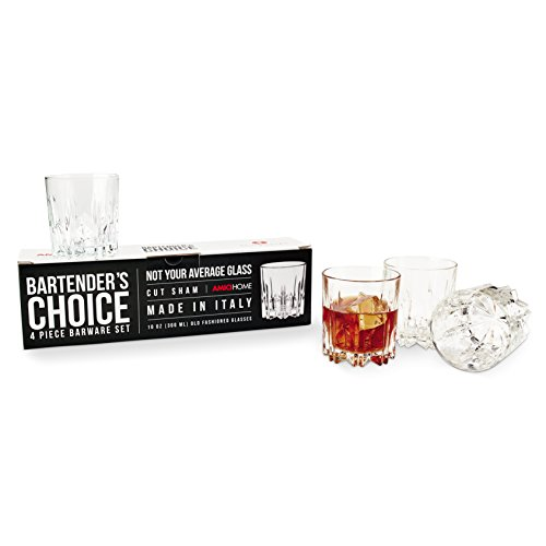 Amici Bartender's Choice Excalibur Double Old Fashioned Glass, 10 oz. - Set of 4 ()