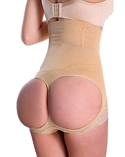 FUT Women's Butt Lifter Shaper Seamless Tummy Control Hi-Waist Thigh Slimmer