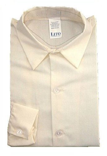 Boys Ivory Long Sleeve Dress Shirt - 18 to 24 Month