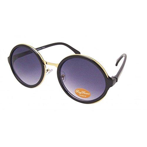Chic-net ronde vintage lunettes de soleil style aviateur doré épaisseur metallsteg style john lennon vert vert pVWgU7v