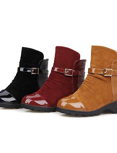 Moda Zapatos A Eu42 Uk8 Eu37 Uk4 Oficina Cn43 5 5 Vestido us6 Plataforma Punta La Mujer Trabajo Casual Botas Redonda Almond Exterior 7 De 5 Y us10 Xzz Yellow Comfort Cn37 5 5 w8Rdqnfvv1
