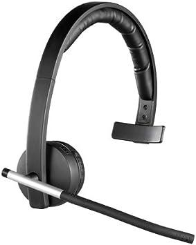 Logitech H820e Auriculares Inalámbricos, Auriculares Mono con Micrófono con Supresión de Ruido, USB, Controles Integrados, Indicador Led, PC/Mac/Portátil, Negro