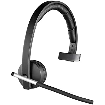 Logitech H820e Wireless Headset  Mono Headphone with Noise-Cancelling Microphone  USB  Headset Controls  Indicator LED  PC Mac Laptop Black