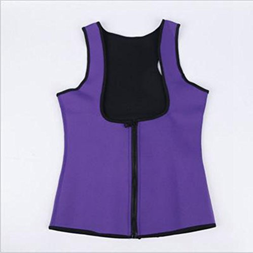 Women Sweat Neoprene Waist Trainer Hot Slimming Sauna Vest Tummy Control Body Shaper For Weight Loss Purple XL