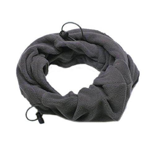 OULII Termales al aire libre de invierno polar facial m/áscara sombrero cuello caliente para hombres de las mujeres gris
