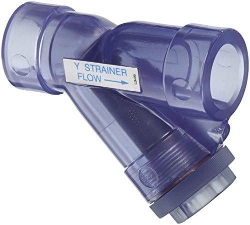 Pvc Y Strainer Socket - Hayward YS00100S 1-Inch Socket Clear PVC Y-Strainer with FPM O-ring Seals