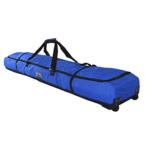 High Sierra Wheeled Ski Bag for Two Pairs of Skis (Up to 185cm) - Vivid Blue/Black