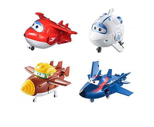(Super Wings US730204 Transforming Toy Figures, Jett Todd Astra & Agent Chase, Scale, 5