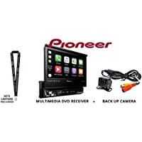 Pioneer AVH-3300NEX 7 Single Din DVD Receiver Apple CarPlay Built in Bluetooth with Backup Camera and a FREE SOTS Lanyard