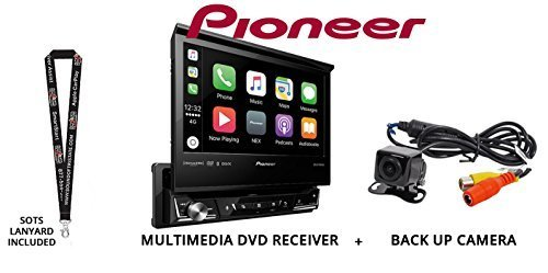 Pioneer AVH-3300NEX 7″ Single Din DVD Receiver Apple CarPlay Built in Bluetooth with Backup Camera and a Free SOTS Lanyard For Sale
