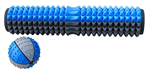 NewCell Integrate Foam Roller with Massage Acupressure Exercise Core Therapy Roll Tool with Bi directional Zone for Spine Comfort