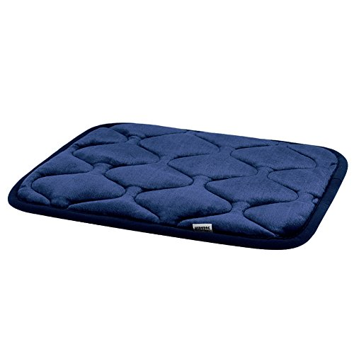 Hero Dog Small Dog Bed Mat 21 Inch Crate Pad Anti Slip Mattress Washable for Pets Sleeping (Blue XS) (Dresser Dog Bed)