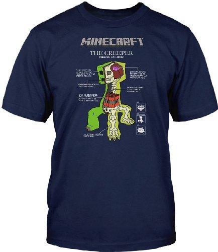 Minecraft - anatomía del creeper - camiseta del videojuego - algodón ...