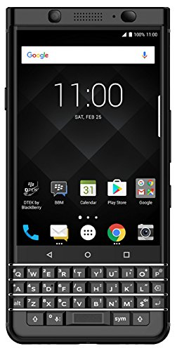BlackBerry KEYone (64GB, 4GB RAM) BB100-7 - 4G LTE GSM Factory Unlocked DUAL SIM Android International Model (Limited Edition) Black (Phones Blackberries)