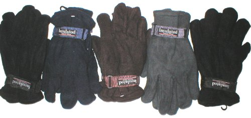 Wholesale Lot 24 Pair Mens Fleece Gloves Charity Homeless Shelter Give a Way Winter - Charity Product