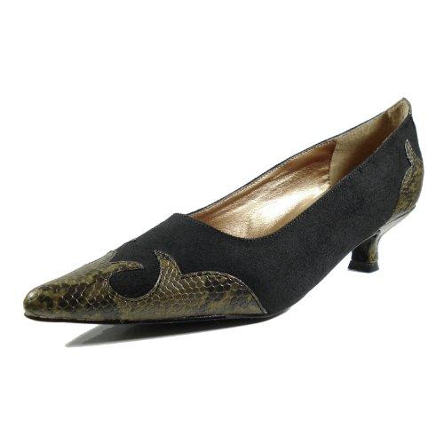Ornela Brenti 33044-601 Damen Schuhe Premium Qualität Western Pumps Schwarz (Schwarz)