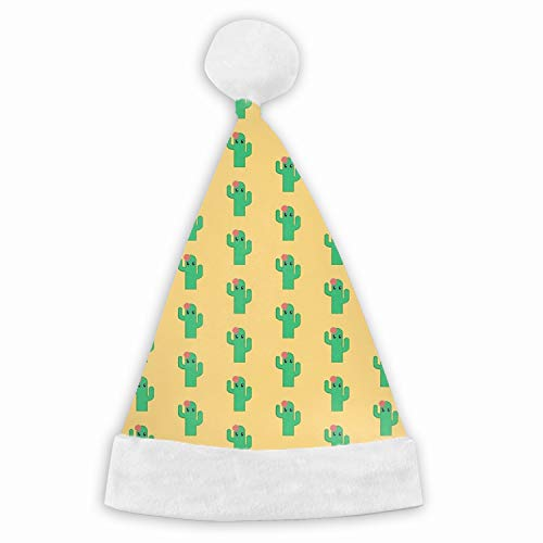 The Glamour Cactus Velvet Christmas Hat with Plush Trim ∧ Comfort Liner - Adult and Child Size ()