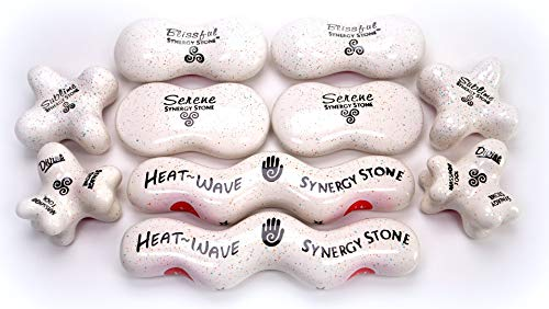 Advanced (Candy)(Set of 10) Ultra-Smooth Synergy Stone Hot Stone Massage Tools - Pro Kit for Full Body Massage - Relaxing and Therapeutic Deep Heat - Free YouTube Training Videos