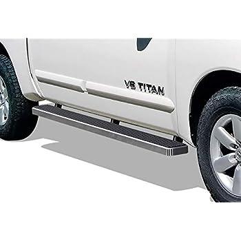 "For 04-19 Nissan Titan King Cab 3/"" Black Stainless Steel Side Step Nerf Bars"