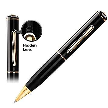 emebay - 8 GB bolígrafo cámara espía/videocámara alta resolución y batería integré negro/oro: Amazon.es: Electrónica