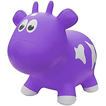 Farm Hoppers Award Winning Inflatable Bouncing Purple Cow with Pump