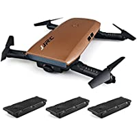 RTF Foldable RC Pocket Selfie Drone - WITH THREE BATTERIES(COFFEE)